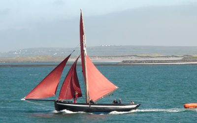 The Galway Hooker on Inis Mor